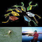 1X Cute Frog Topwater Fishing Lure Crankbait Hooks Bass Bait Tackle 7colors BDAU