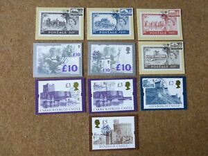 Excellent Collection GB High Value Definitive PHQs with FDI on front (10)