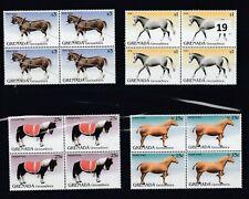 KV 4X GRENADA - MNH - HORSE - ANIMALS