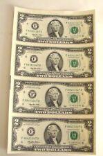 UNCUT SHEET 4 = $2 NOTES  -- 1995 ATLANTA FEDERAL RESERVE NOTES