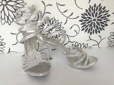 First Sight Woman's Heeled Dress/Wedding/Graduation Shoes Size 8 Faux Diamonds