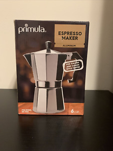 PRIMULA ALUMINUM EXPRESSO MAKER WITH SILICONE HANDLE 6 CUPS :B21-1