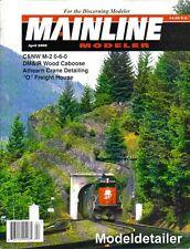Mainline Modeler Apr.02 C&NW DM&IR Athearn Crane Freight House SP SD40M-2 UP B&O