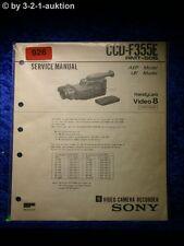 Sony Service Manual CCD f355e Video Camera Recorder (#0926)