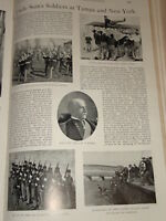 1898 USA SOLDIERS MAJ GEN NELSON MILES 13TH INFANTRY &C