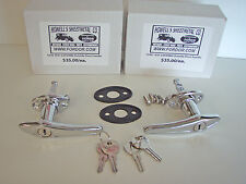 1930 1931 Model A Ford Locking Door Handle Set with pads & Screws Coupe Sedan