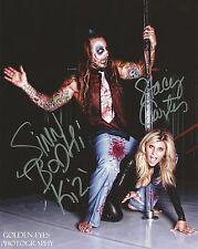 Stacy Carter Miss Kitty The Kat & Kizarny Sinn Bodhi Signed 8x10 Photo WWE Auto