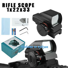 1x22x33 Red/Green Laser Dot Holographic Sight Reflex Rifle Scope fit 20mm Rail