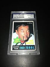 Frank Mahovlich Signed 1970-71 O-Pee-Chee OPC Card PSA Slabbed #83427480