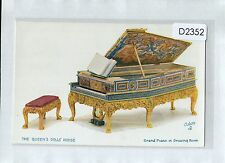 D2352aps UK Royalty Queens Doll House Grand Piano Tucks vintage postcard