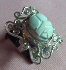 Handcrafted Egyptian Scarabs Sterling Silver 925 Filigree Ring  skaisJN17