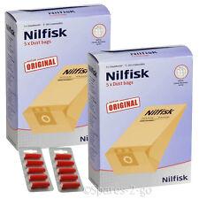10 x nilfisk origine sacs pour série GD1000 aspirateur hoover + fresh