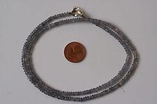 Tansanit-Kette(Linse, 3,3x2 mm. L=45 cm) J-0668/J