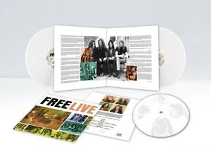 FREE - Live. New 3 SIDED WHITE VINYL LP with 1 etched side Sealed. **NEW**