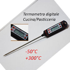 Termometro Cucina Digitale Pasticceria Alimenti Sonda Misuratore TP101