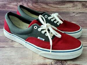 Vans Mens Sneakers Size 9 Era Sample Red Gray
