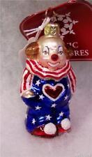 New Slavic Treasures Retired Glass Ornament - Funny Flag (clown)