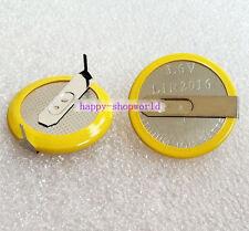 1 Pieza Nueva con pestañas X 3.6V Recargable LIR2016 Batería Botón lengüetas de soldadura