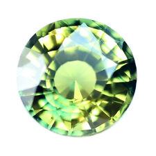 Certified Natural Greenish Yellow Sapphire 0.54ct VVS Madagascar 4.5mm Round