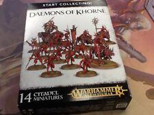 40K Warhammer AOS Daemons of Khorne Start Collecting! NIB