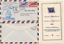 HAWAII to THAILAND SIAM PAN AM CLIPPER FIRST AIRMAIL ILLUSTRATED + AVIATION CARD