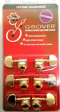 Grover Locking Grip Machine Heads  502G  Gold  3 and 3  Lifetime Warranty