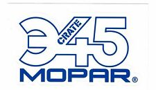 "MOPAR Sticker Decal 4.5"" x 2.5"" ... Crate 345"