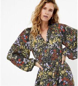 M & S Per Una Silky Floral Midi dress size 10 BNWT