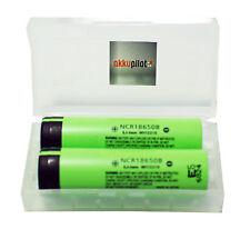 2er Premiumset inkl. Akkubox Panasonic NCR18650B 3,6V Li-Ion-Kobalt 3400 mAh
