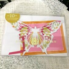 Anna Griffin 10 Personalized Invitations Butterfly Wedding Cards