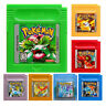 7 pcs GBC Pokemon Game Card Carts 7 Color Version Cartridge GameBoy For Nintendo