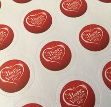 63 Happy Valentines Day Stickers ENVELOPE/PACKAGE SEALS LABELS