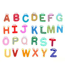 26pcs Wooden Alphabet Letters Fridge Magnet Baby Kids Child Educational Toy Gift