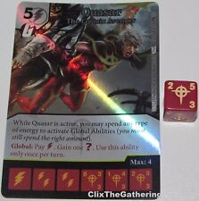 Foil QUASAR THE COSMIC AVENGER 104 Guardians of the Galaxy Dice Masters Rare