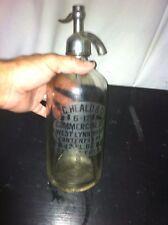Vtg 20's-30's Glass SELTZER Soda WATER Dispenser Bottle M.C. Heald @ Co.