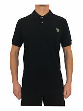 Paul Smith Zebra Badge Regular Fit Short Sleeve Polo Shirt in Black RRP £75