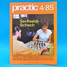 DDR practic 4/1985 Sechseckschach Segeljolle Spielzeugauto Hausklub Lauflicht L