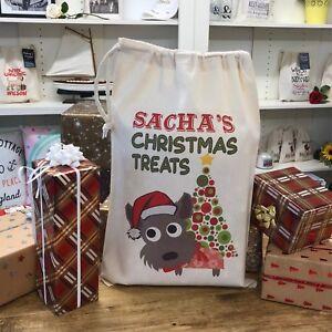 Personalised Dog Santa Sack Cairn Terrier - Sacha Design