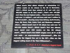 Creed:  My Sacrifice  CD Single  promo  NM