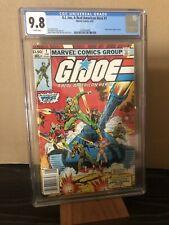G.I. Joe # 1 CGC 9.8 White (Marvel 1982) NEWSSTAND 1rst Joe team Snake Eyes 🔥