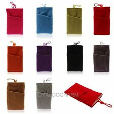 New Soft Sleeve Cloth Two Pocket Bag Case Pouch For iPhone 5 5S 5C Samsung S3 S4