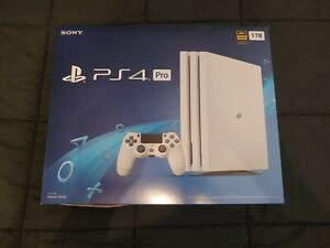 Sony Playstation 4 Pro Glacier White Console Limited Edition Complete in Box