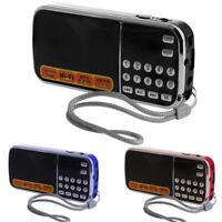Mini Portable LCD Receiver Digital FM Radio Speaker USB SD TF Card Mp3 Player