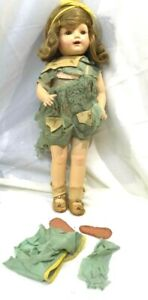 """Antique Unmarked Composition Doll, 20"""" Louis Amberg?  Pre 1930's"""