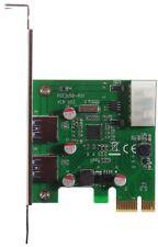 M-ware®  PCIe x1 Express Dual 2x USB3.0 Controller Erweiterungskarte PCIE016 ID1