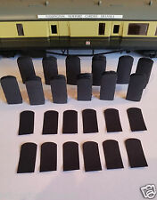 12 x 00 Gauge 4mm Hornby Centenary Corridor Connector Bellows Gangways Finescale