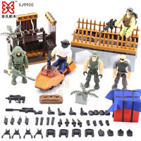 Military Blocks Bricks Survival Mini COD Tactical Team Soldiers Figures PUBG