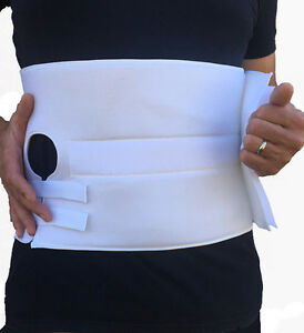 Stoma Support Ostomy Hernia Belt for Colostomy Bag Ab. Binder w/ Stoma Opening