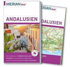 REISEFÜHRER ANDALUSIEN 2015/16+ GROSSE LANDKARTE; UNGELESEN, wie neu MERIAN LIVE