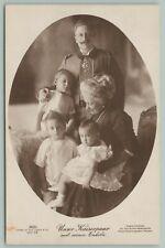 Royalty~German Emperor Kaiser Wilhelm II~Wife Augusta Victoria~Children~RPPC